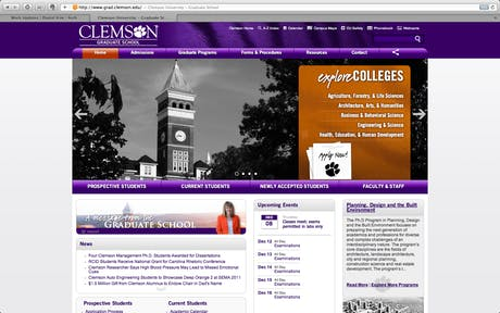 updated grad school website