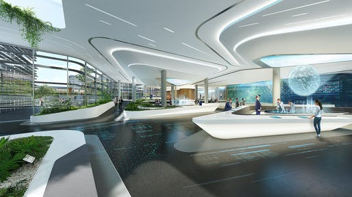 Lounge interior. Courtesy of UNStudio.