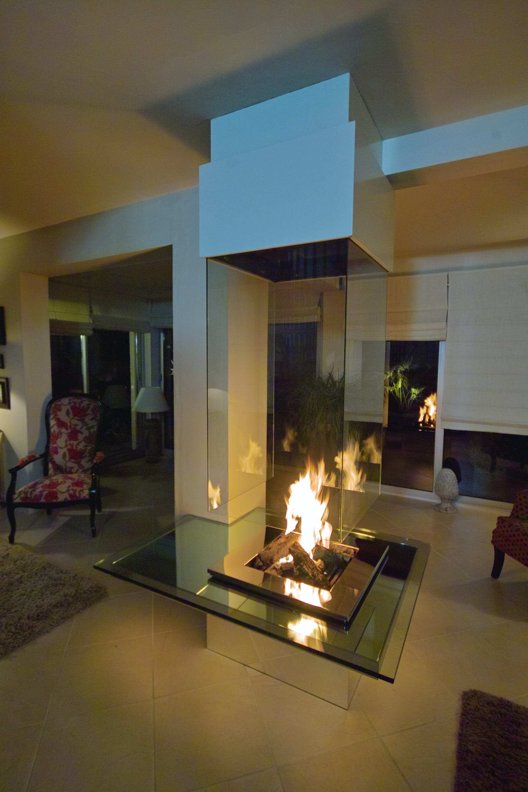 contemporary fireplace cheminée contemporaine bloch design