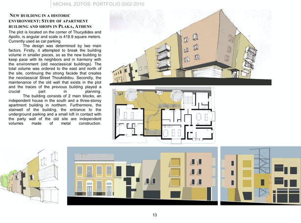 Main Street Auto >> NEW BUILDING IN A HISTORIC ENVIRONMENT: STUDY OF APARTMENT BUILDING AND SHOPS IN PLAKA, ATHENS ...