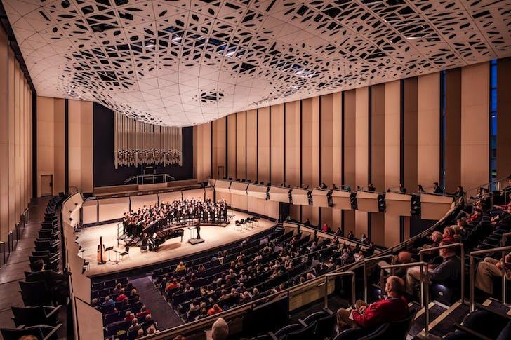 Voxman Music Building, University of Iowa. Photo: Tim Griffith.