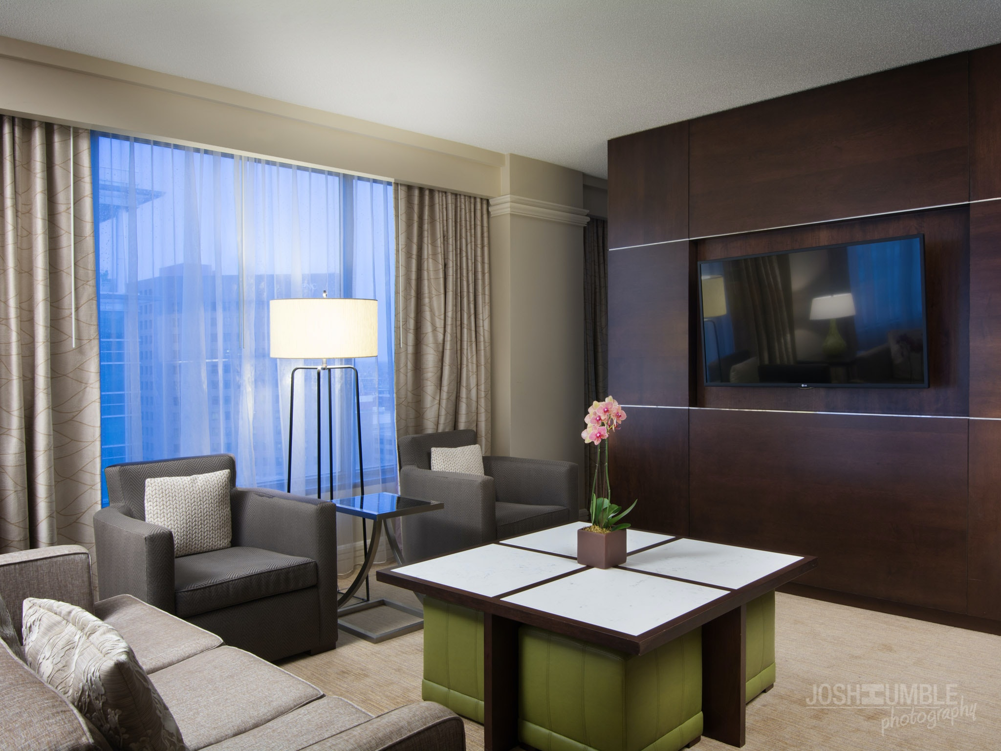 Westin Indianapolis Guest Rooms, Interior Photography ©Josh Humble