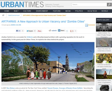 """ARTFARMS: A New Approach to Urban Vacancy and """"Zombie Cities"""" on UrbanTimes"""