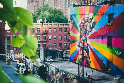 Eduardo Kobra Street Art on the Highline, NYC. Photo: Nan Palmero/Flickr.