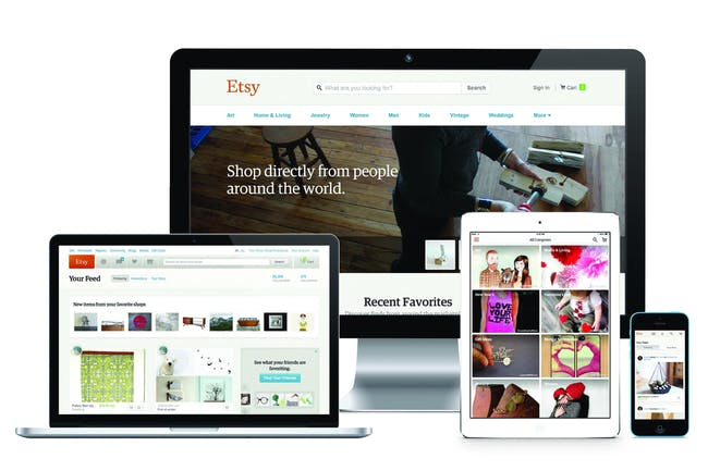 Corporate & Institutional Achievement: Etsy - Etsy Product Design: Building the marketplace, global, ongoing. Photo: Etsy