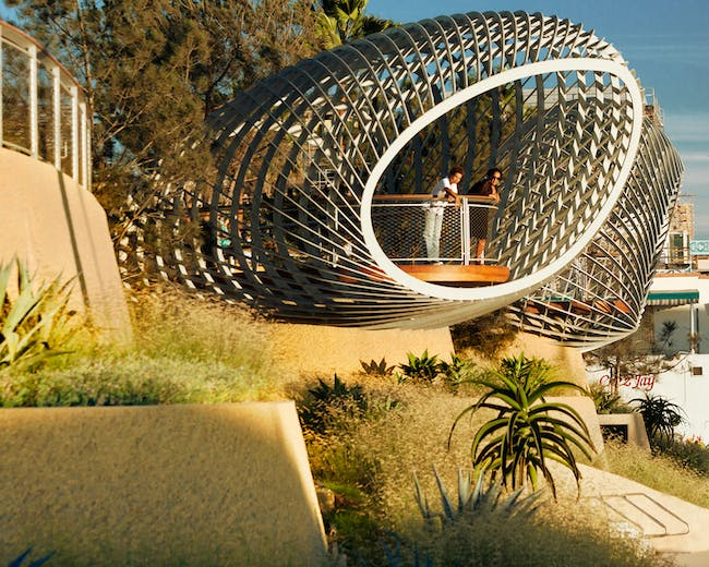 MERIT: Tongva Park + Ken Gensler Square by Miriam Mulder, AIA - City of Santa Monica, James Corner Field Operations, and Frederick Fisher & Partners in Santa Monica, CA MERIT: Buzz Court by Heyday in Los Angeles, CA. Photo courtesy of AIA LA Design Awards 2014.
