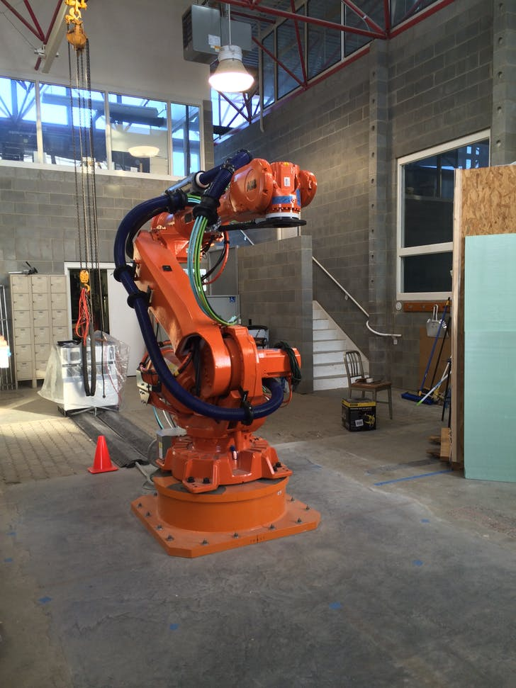 New ABB Robot installed in the Research + Demonstration Facility to facilitate digital and rapid prototyping.