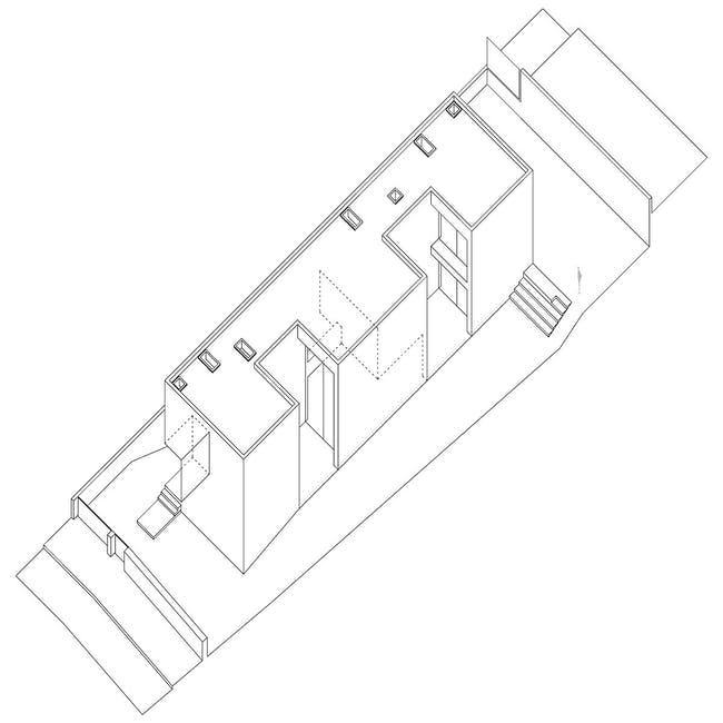 Axonometric of the house in Moreira, Maia, Portugal (Photo- Javier Callejas)