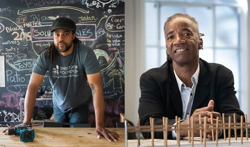 (L to R): Urban designer Emmanuel Pratt and landscape/public artist Walter Hood, two members of the MacArthur Fellows Class of 2019. Photo credit: John D. & Catherine T. MacArthur Foundation.