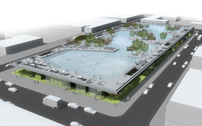 Detail of the winning project in the category Community Programming: 'Flood Courts Gowanus' by Josip Zaninović, Krešimir Renić, Ana Ranogajec, Tamara Marić, and Branko Palić from Zagreb, Croatia