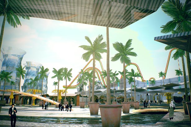 Shopping center area