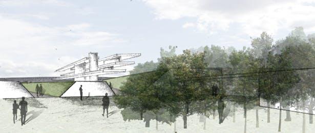 Photo Collage - View toward Jewish Memorial