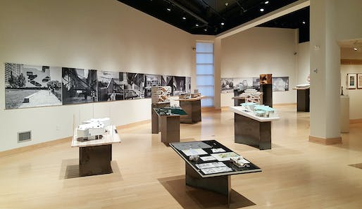 'Steven Holl: Making Architecture' installation in the Samuel Dorsky Museum of Art, New Paltz, NY. Image: Dorsky Museum.