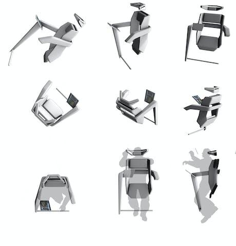 RAF-Alpha: Zero G 'wearable' chair concept