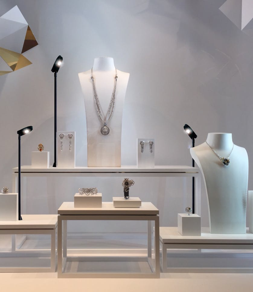 Lumibright Task Lights For Enhancing Commercial Display
