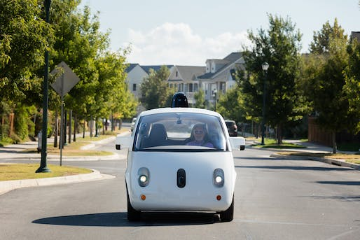 """Firefly"" self-driving car launched in 2015; Image courtesy of Waymo"