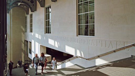 Interior View Facing Jubilee Walk, Photo by Phil Starlin, 1991, Architectural Archives, University of Pennsylvania by the gift of Robert Venturi and Denise Scott Brown. © Trustees of the University of Pennsylvania.