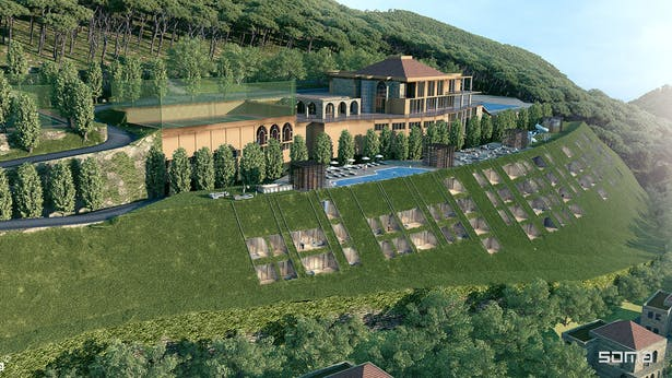 Michel Abboud Design for Deir al Kalaa