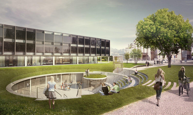 Architects Stuttgart stuttgart citizen and media center by henning larsen architects