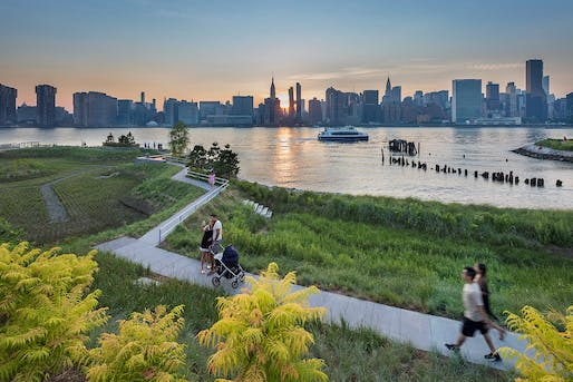 Oct 31: Hunter's Point South Waterfront Park, Co-designed: SWA/Balsley and WEISS/MANFREDI, Prime Consultant and Infrastructure Designer: ARUP, Photo © Albert Vecerka/Esto.