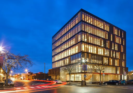Wood Innovation and Design Centre by MGA   MICHAEL GREEN ARCHITECTURE. Photography by Ema Peter