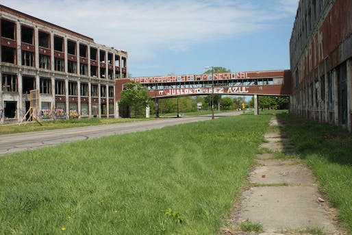 Detroit's Packard Plant, one of the real sites picked for a speculative presentation. Photo: Joseph on flickr.com.