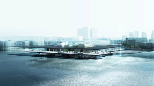 "2nd prize winner in Oslo: the proposal ""Yin Yang"" by REX"