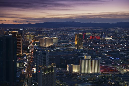 Downtown night view of Las Vegas, NV. Image: Muhilan mg/Flickr.