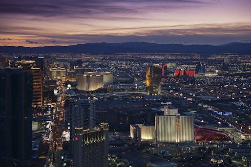 Downtown night view of Las Vegas, NV. Image: Muhilan mg/Flickr.