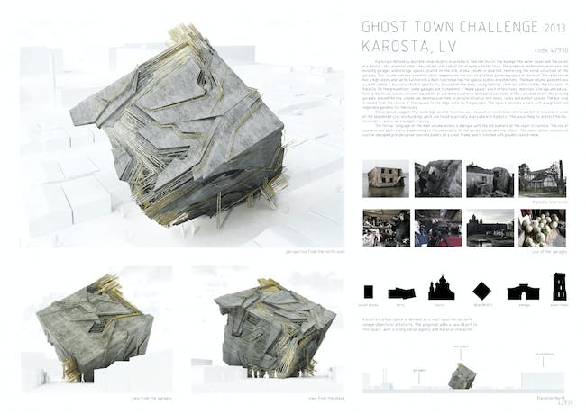 Ghost Town Challenge 2nd prize winners - Gilles Retsin + Isaie Bloch (UK). Image courtesy of Homemade Dessert.