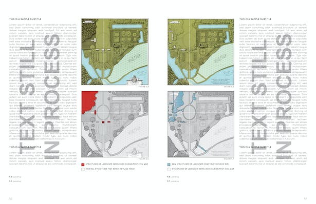 Thesis Spread (text still in process) Diagramming Alterations and Loss Throughout the Site's History