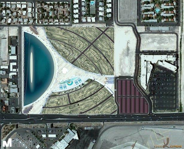Google Earth view of Vegas Extreme