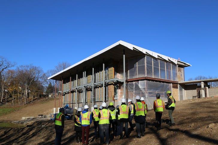 Site visit at Frick Environmental Center. Photo courtesy of Bohlin Cywinski Jackson.