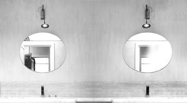 bathtub detail - mirrors