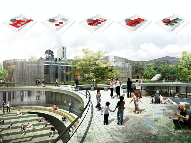 Global Holcim Awards Gold 2015: Articulated Site: Water reservoirs as public park | Medellín, Colombia'By Mario Camargo and Luis Tombé, Colectivo720, with Juan Calle and Horacio Valencia, EPM Group (Empresas Públicas de Medellín) (all Colombia)