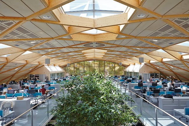 WWF-UK Headquarters Living Planet Centre, Woking by Hopkins Architects. Photo © Janie Airey.