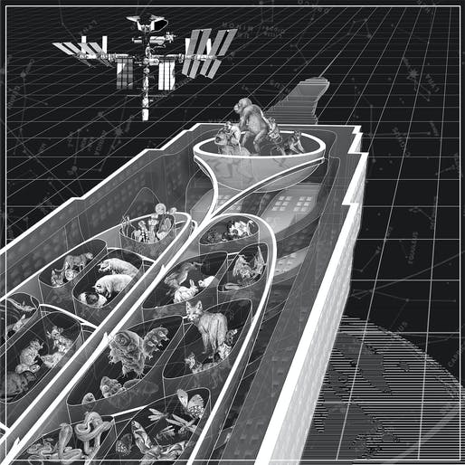 """Planetary Ark [1/3] (All Aboard) the Architekton"" (2018), Design Earth. From: ""Cosmorama"", Design Earth. Image courtesy of Design Earth."