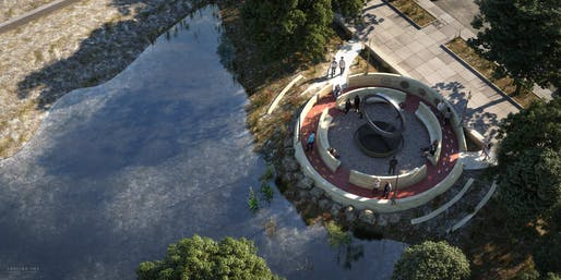 "The winning National Native American Veterans Memorial proposal: ""Warriors' Circle of Honor"" by Harvey Pratt. Image courtesy National Museum of the American Indian."