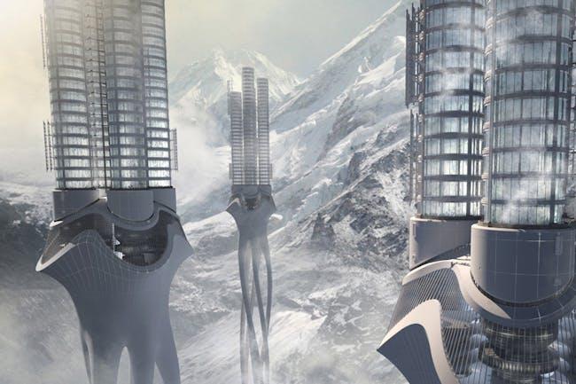 2012 First place winner: Himalaya Water Tower by Zhi Zheng, Hongchuan Zhao, Dongbai Song (China).