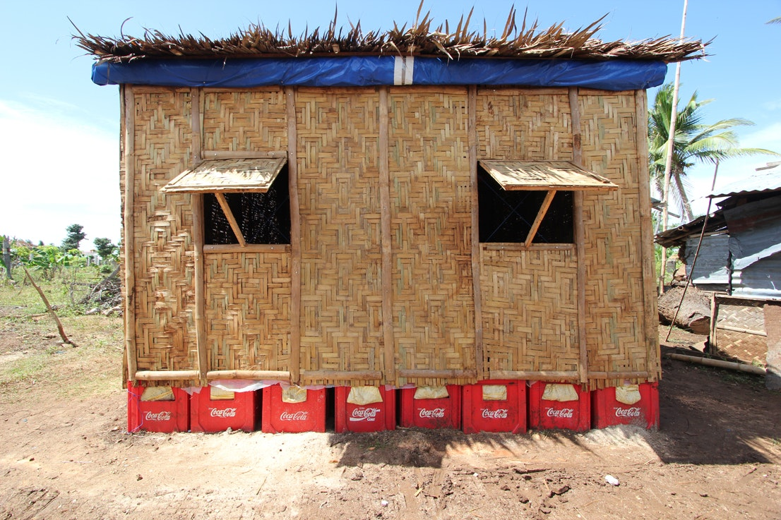 Paper Temporary Shelter, Cebu, Philippines, 2014. Courtesy Of Shigeru Ban  Architects.