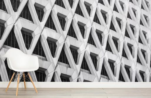 The Brutalist Welbreck Street Mural Wallpaper from Murals Wallpaper.