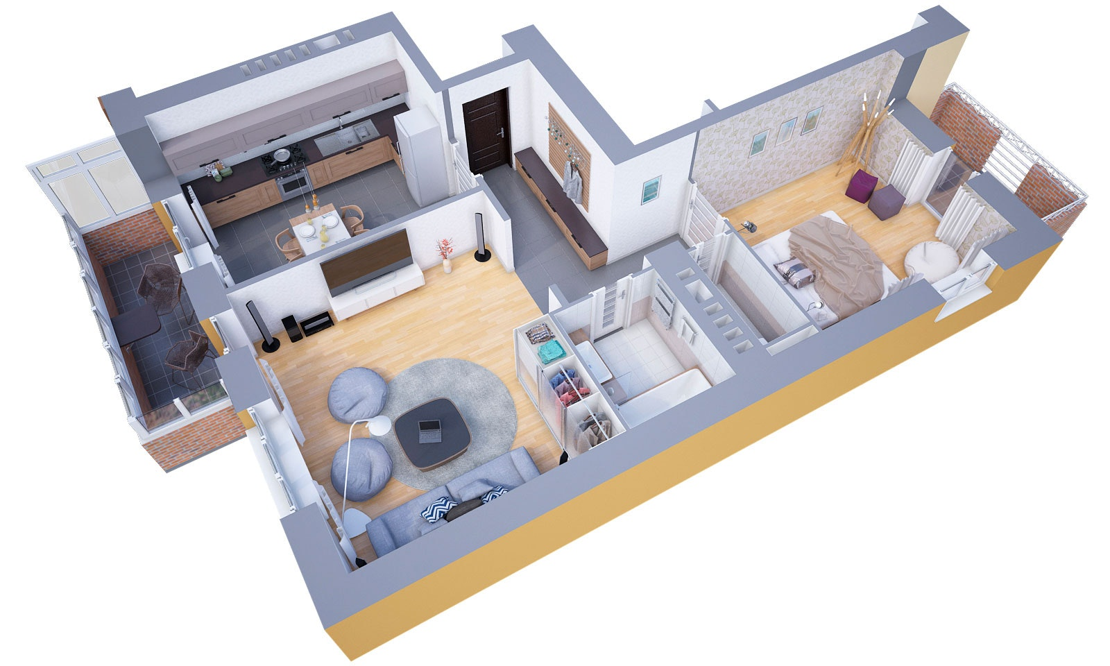 Charming 3D Floor Plans