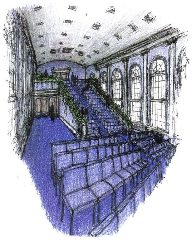 New Stadium Seating in Historic Sanctuary