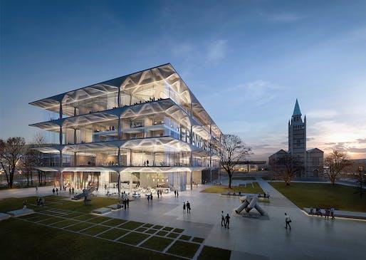 Museum of 20th Century Art, Berlin. Image courtesy of Zaha Hadid Architects.