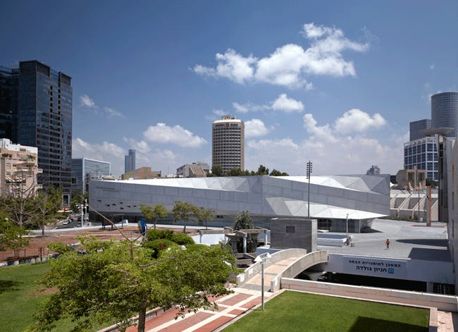 The museum is sited on a small, triangular plot which posed a design challenge. Credit: Preston Scott Cohen