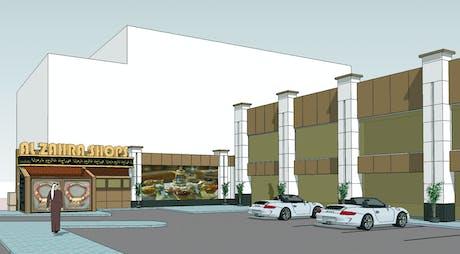 International Competition: Strip Mall Boundary Wall Renovation/Location: Jeddah, Saudi Arabia/ Public/Commercial / Shopping Mall Design