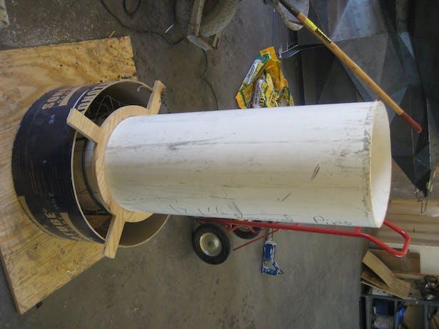 casting concrete base