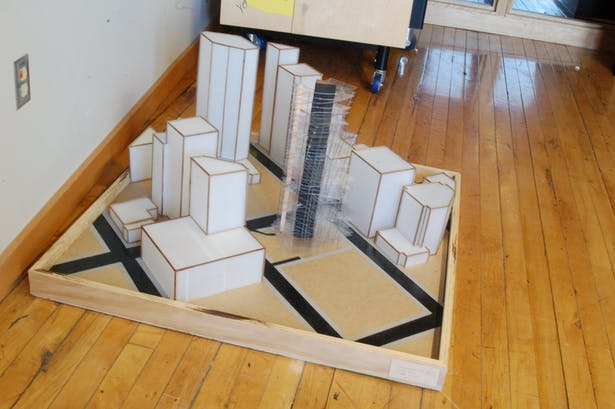the model with the site model in place