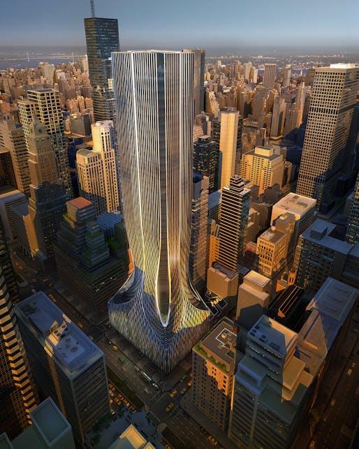 425 Park Avenue, New York. Image courtesy of Zaha Hadid Architects.