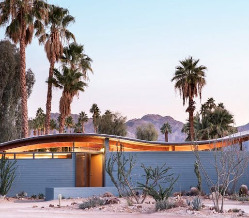 Desert Modernism: The Miles C Bates 'Wave' House, Palm Springs: talk and live video house tour